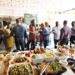 53068590 – buffet dinner dining food celebration party concept